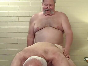 Grandpas suck and fuck each other