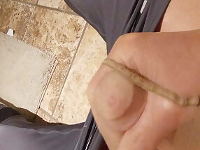 Cumming in Satin Touch Pantyhose