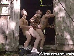 FalconStudios - Steamy Worker Joins Gay Couple In Fuck Train