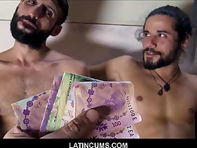 Two Hot Straight Latino Best Friend Backpackers Paid Cash To Fuck Each Other