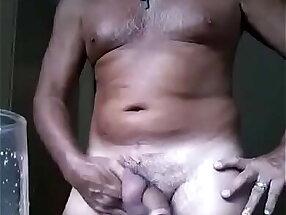 Desi old uncle masturbating