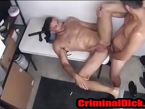 CriminalDick.com -- Cop on Thug Strip Search and bareback