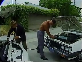 Playful ring snatcher Paul Morgan helped ethnic fellow Brad Hanson to jumpstart his car and took stiffing his  dick in black  ass as payback